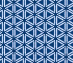 Indigo Dyed Pattern by lauriekentdesigns