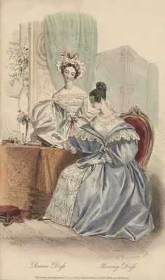 June, 1834 - Dinner Dress, Morning Dress - Court Magazine