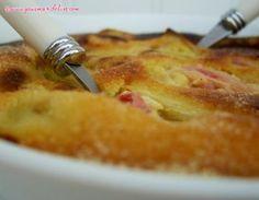 Clafoutis rhubarbe - amande