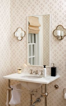 Classic Glam - traditional - Powder Room - Dc Metro - Ella Scott Design, llc