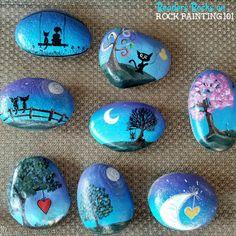 How to quickly make a beautiful gradient base coat - Rock Painting 101 This technique for painting a gradient base coat is fast and easy. Check out the step by step tutorial and you'll be creating amazing painted rocks in no time! Rock Painting Patterns, Rock Painting Ideas Easy, Rock Painting Designs, Paint Designs, Rock Painting Pictures, Pebble Painting, Pebble Art, Stone Painting, Body Painting