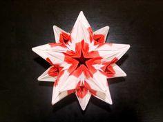 Modular Origami 1 designed By Zhang Meijing Origami 3d Star, Origami And Kirigami, Origami Ball, Modular Origami, Origami Paper, Origami Diagrams, Flower Ball, Origami Instructions, Origami Flowers