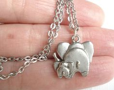 Elephant Necklace Buy 1 Get 1 Free Friendship Necklace Silver Elephant Pendant Mother and Child Friend Jewelry