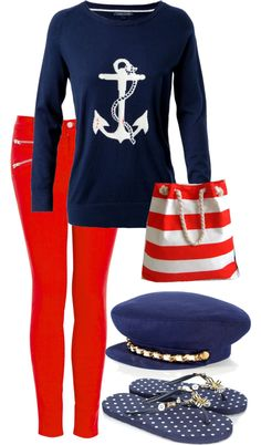 """""""Sailor Outfit"""" by aquilas on Polyvore"""