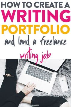 Writing tips to help you create a portfolio for your writing samples. Learn how to use that to land a freelance writing job to make money as a writer. Writing A Book, Writing Prompts, Writing Tips, Writing Help, Journal Prompts, Creating A Portfolio, Writing Portfolio, Online Writing Jobs, Freelance Writing Jobs