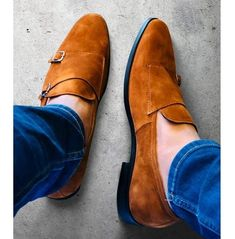 Handmade Men Tan color formal double monk Shoes, Men classic Tan dress shoes sold by Rangoli Collection. Shop more products from Rangoli Collection on Storenvy, the home of independent small businesses all over the world. Cap Toe Shoes, Men's Shoes, Dress Shoes, Shoes Men, Double Monk Strap Shoes, Suede Leather Shoes, Calf Leather, Custom Design Shoes, Formal Shoes For Men