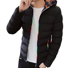 HEE GRAND Fashion Male Winter Overcoat Brand Clothing Male Hooded Jacket And Coat Man Large Size Jackets Men Coats M~5XL MWM1624