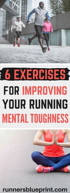 6 Exercises to Help You Become a Mentally Strong Runner want to improve your mental running game? then this article will teach you some of the best strategies to help take your running game to the next leve Running On Treadmill, Running Workouts, Running Tips, Fun Workouts, Running In The Dark, Running Form, Wöchentliches Training, Born To Run, Mentally Strong