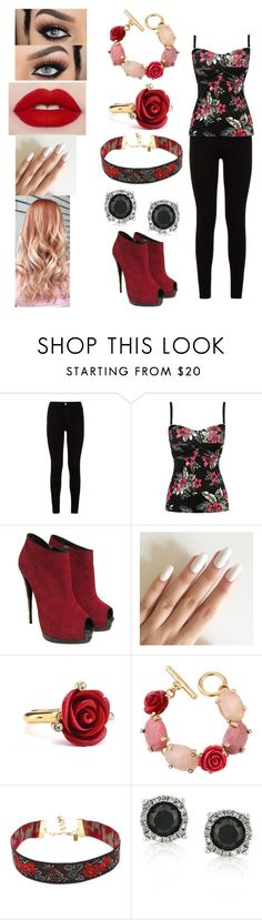 """Going to see the dolan twins"" by elvira-marie-hernandez on Polyvore featuring 7 For All Mankind, M&Co, Giuseppe Zanotti, Oscar de la Renta and Mark Broumand"