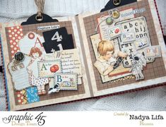 An ABC Primer mini album by Nadya Lifa #graphic45
