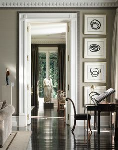 Style Profile: Luis Bustamante | La Dolce Vita. I like the border around the molding of the door and ceiling.  #homedecor #homedesign #decorationideas #homeinteriordesign