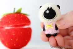 Mr Strawberry Micro teddy By Farberova Olga - Bear Pile