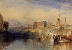 Joseph Mallord William Turner 'Exeter', c.1827 - Watercolour, scraping out, stopping out and gum arabic on paper -  Dimensions Support: 300 x 428 mm -  © Manchester City Galleries