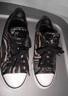 6a6e9e02fc0 Converse All Star Sequin Zebra w  Patent Tag M6 W8  Converse  Comfort