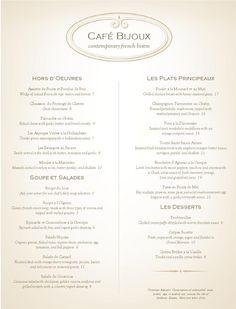 French Fine Dining Menu Restaurant - MustHaveMenus