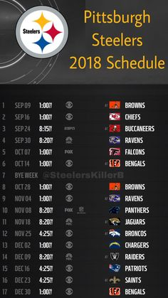 Pittsburgh Steelers Schedule, Pittsburgh Steelers Football, Pittsburgh Sports, Best Football Team, Dallas Cowboys, Here We Go Steelers, Nfl Steelers, Steelers Stuff, Indianapolis Colts