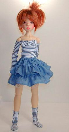 IDDDDDDDKW Nelly- Ruffled 'Denim' Skirt | Flickr - Photo Sharing!