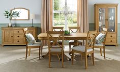 Lace - Extending Dining Table & 6 X Back Chairs