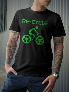 Recycle Bicycle Bike TShirt Green Enviroment by Biking by 21street, $16.99