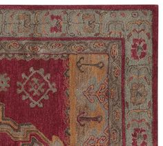 Pottery Barn Arlington Persian Style Red Rug 3 X 5 Brand New Wool Authentic  #PotteryBarn