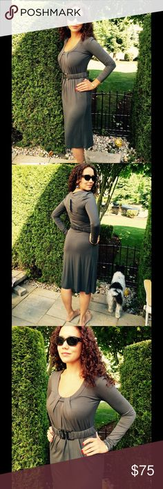NWT SOPHISTICATED & ELEGANT YET COMFORTABLE & CUTE GORGEOUS CHARCOAL GRAY W/PLENTY OF DETAILING & STYLE. SIMPLY ELEGANT Dresses