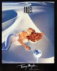 Jerry Hall was the first model Thierry Mugler used for his Angel perfume ads. Source by Perfume Angel, Angel Parfum, Angel Fragrance, Jerry Hall, Perfume Versace, Perfume Ad, Perfume Bottle, Thierry Mugler, Perfume Calvin Klein