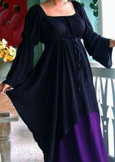 SHIRLEY Renaissance Bluse - schwarz