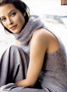 Christie Turlington-so beautiful!(in ad for Ellen Tracy--reminds me that wearing grey isn't blah and dull at all)