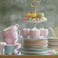 Harlequin Polka Dot tea set