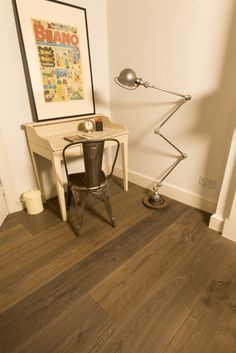 Rustic Dark Silver Toned Engineered Oak for both traditional and contemporary homes.  #rustic #oak #flooring