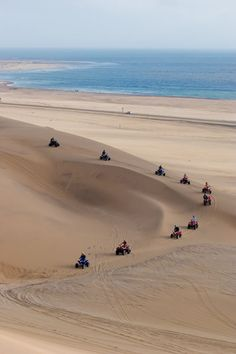 4 wheeling on the dunes at Swakopmund , Namibia Land Of The Brave, Namibia, Desert Dream, Seaside Towns, Travel Companies, Get Outdoors, The Dunes, Travel Planner, Rest Of The World