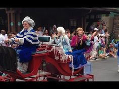 Anna, Elsa and Kristoff in Frozen Royal Welcome Parade Walt Disney World...