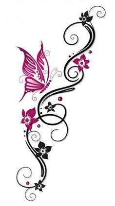 Tattoo Tribal, Tribal Tattoos For Women, Tattoos For Guys, Tiger Tattoo, Tattoo Black, Tribal Butterfly Tattoo, Butterfly Tattoos Images, Swirl Tattoo, Tribal Shoulder Tattoos