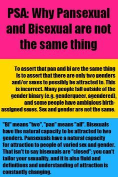 There is a difference between pansexual and bisexual