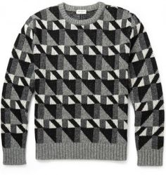 MR PORTER offers Designer Shirts, Knitwear & Trousers from over 350 designers. Shop online for knitwear from the best luxury brands on MR PORTER Cool Sweaters, Vintage Sweaters, Knitting Sweaters, Mens Parka Jacket, Knit Cardigan Pattern, Plaid Pattern, Fall Vest, 2015 Fashion Trends, Denim And Supply