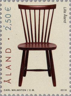 "Åland €2,50 ""The Chair 'Lilla Åland' by Carl Malmsten"" 2016"