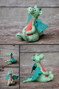 Needle Felted Dragon by Teresa Perleberg