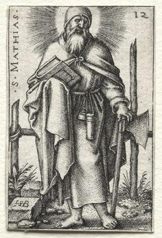 Hans Sebald Beham (1500-50) - St. Matthew (1545-46) engraving; Cleveland Museum of Art