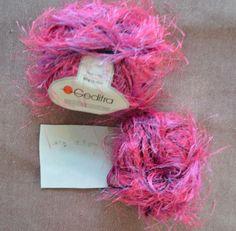 New Pink Purple Long Eyelash Gedifra Yarn Polyester 70 gm 54 meter 2.47 oz 59 yd #Gedifra #Eyelash