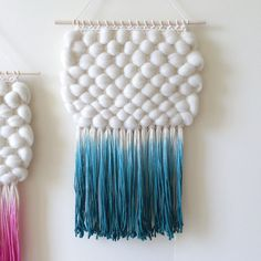 Dyed Textural Weaving | Hand Woven Wall Hanging by SheLovesLife #gift