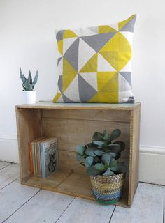 Geometric Print Cushion