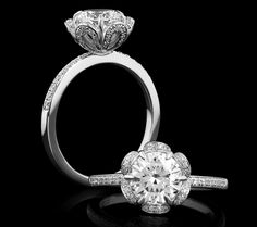 Wow! A unique, yet simple and #elegant engagement ring.