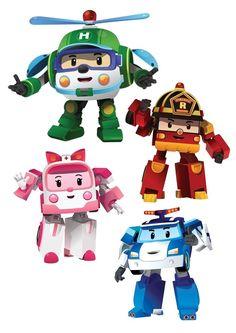 Invitation anniversaire robocar poli avec les personnages - Personnage robocar poli ...
