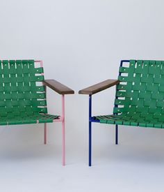 A pair of rod and weave chairs from Portland-based Eric Trine round out our Noho Next picks.
