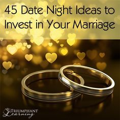 Make this the year you invest in your marriage. Try one of these 45 date night ideas to add a little spice and variety to your marriage.