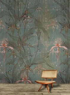 Daisy James, The Orchid Daisy, Palm Wallpaper, Jungle Art, Stunning Wallpapers, Bedroom Bed Design, Contemporary Wallpaper, Wall Paint Colors, Room Wall Decor, Tropical Decor