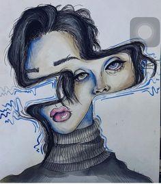 - ̗̀ saith my he A rt ̖́- Art Drawings Sketches, Cool Drawings, Arte Sketchbook, Illustration Art, Illustrations, Arte Horror, Art Hoe, Ap Art, Pretty Art