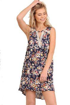 1597e6feaf1e Contemporary BoHo! Sleeveless Fabulous Floral Swing Dress Casual Dress  Outfits