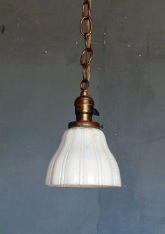 vintage brass pendant light