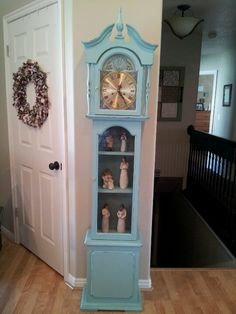 Blue grandfather clock